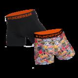 Boxershort katoen/lycra Funderwear-trip 2 pack_