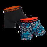 Boxershort katoen/lycra Funderwear-suitcase 2 pack_