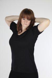 Dames Thermo shirt met korte mouwen viscoce/polyester beeren