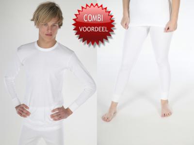 Combi pack met shirt lange mouwen viscose/polyester beeren