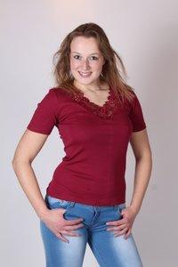 Dames shirt v-hals katoen Toker