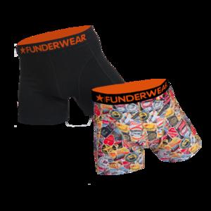 Boxershort katoen/lycra Funderwear-trip 2 pack