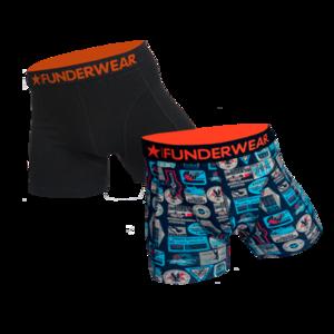 Boxershort katoen/lycra Funderwear-suitcase 2 pack