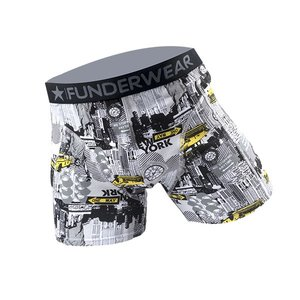 Boxershort katoen/lycra Funderwear-big city 2 pack