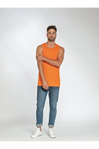 T-shirt mouwloos katoen/elasthan Lemon 5 pack