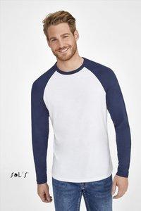 T-shirt langemouw contrast katoen Sols 2 pack