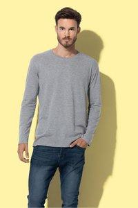 T-shirt langemouw katoen Stedman 2 pack