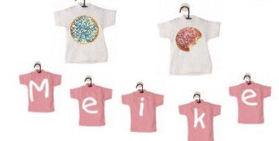 Mini T-shirt met hangertje (zonder opdruk)