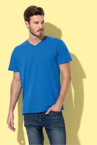 T-shirt v-hals katoen Stedman