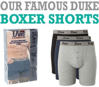 Boxershort katoen tot 8XL Duke 3 pack