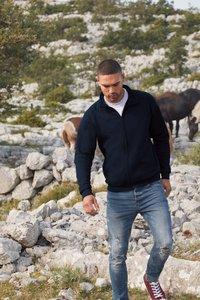 Sweater rits katoen/polyester Fruit-loom
