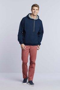 Hooded contrast polyester/katoen Gildan