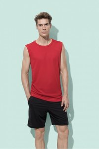 Sport t-shirt mouwloos polyester active dry Stedman