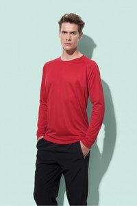 Sport t-shirt lange mouw polyester active dry Stedman