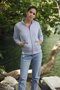 Dames sweater met rits katoen/polyester Fruit-loom