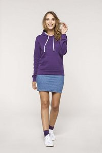 Dames hooded contrast katoen/polyester Kariban